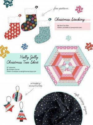Hexagon Tree Skirt Pattern   Peppermint  Figo Fabrics   Watergirl Quilt Co.