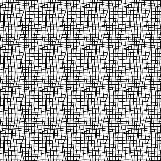 Tuxedo by Kim Schaefer for Andover Fabrics - Wavy Grid - White
