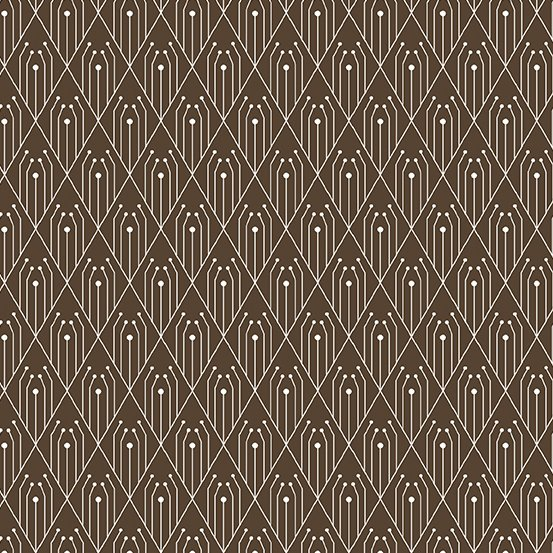 Century Prints Deco by Giucy Giuce for Andover Fabrics - Chocolate