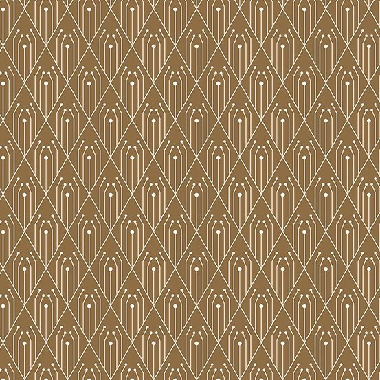 Century Prints Deco by Giucy Giuce for Andover Fabrics - Cinnamon