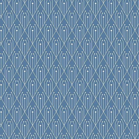 Century Prints Deco by Giucy Giuce for Andover Fabrics - Denim