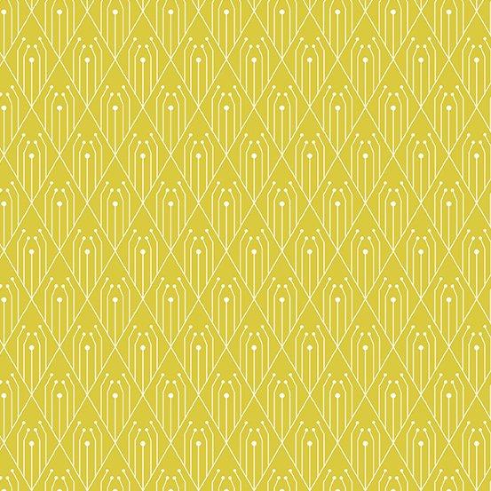 Century Prints Deco by Giucy Giuce for Andover Fabrics - Sulphur