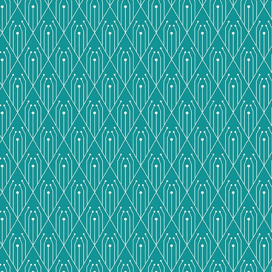 Century Prints Deco by Giucy Giuce for Andover Fabrics - Teal