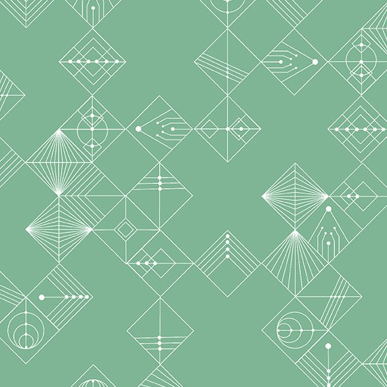 Century Prints Deco by Giucy Giuce for Andover Fabrics - Jade