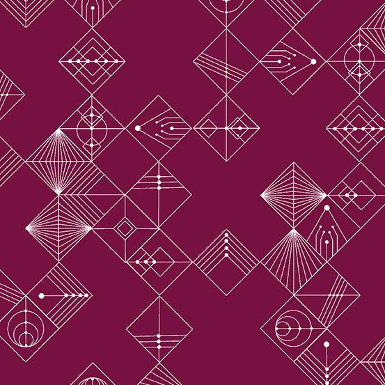 Century Prints Deco by Giucy Giuce for Andover Fabrics - Mulberry