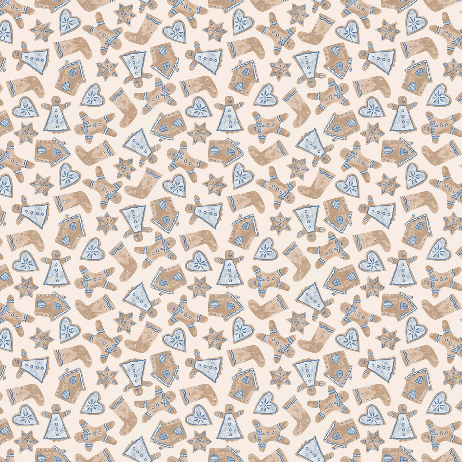 Winter Frost by Boccaccini Meadows for Figo Fabrics - Cookie Cutters - Beige