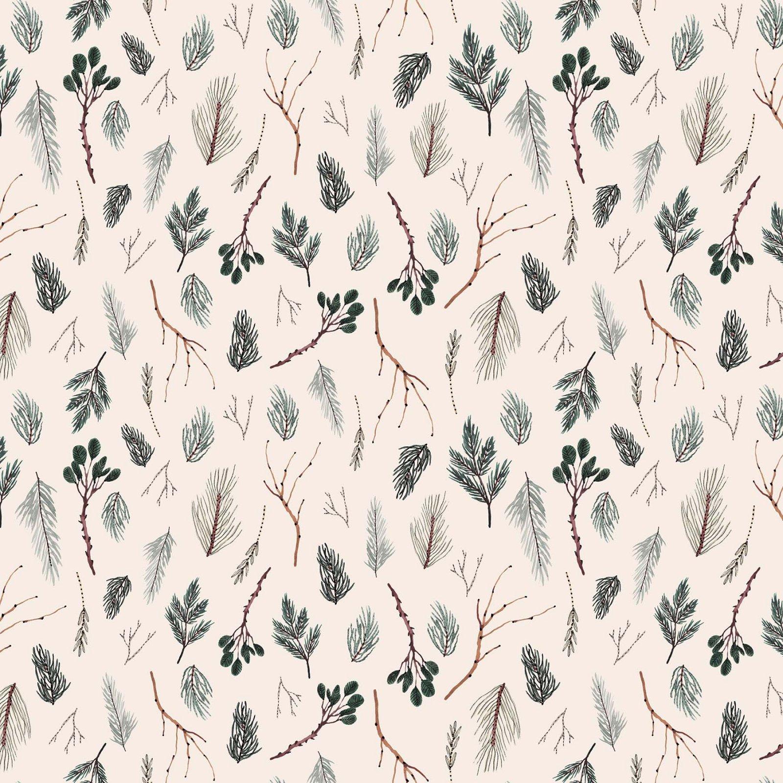 Winter Frost by Boccaccini Meadows for Figo Fabrics - Twigs - Beige Multi