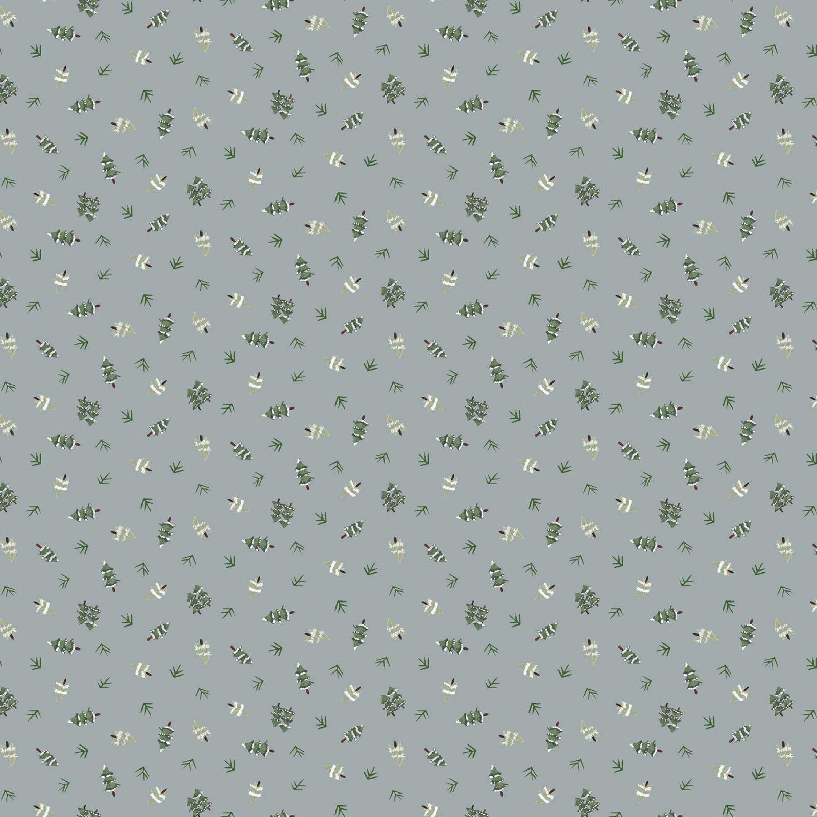 Winter Frost by Boccaccini Meadows for Figo Fabrics - Trees - Grey
