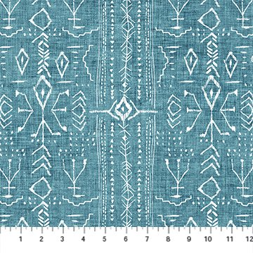 Forest Fable Teal Stripes for Figo Fabrics