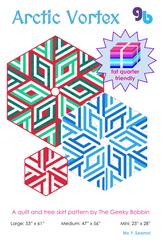 Arctic Vortex by Geeky Bobbin - Tree Skirt Pattern