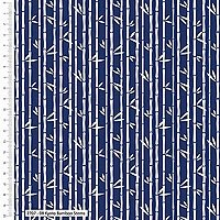 Kyoto by Stuart HIllard for Craft Cotton Co. - Bamboo Stems - Navy