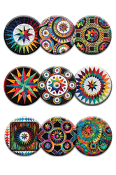 Be Colourful Enchanting Stars Quilt Dot Magnets
