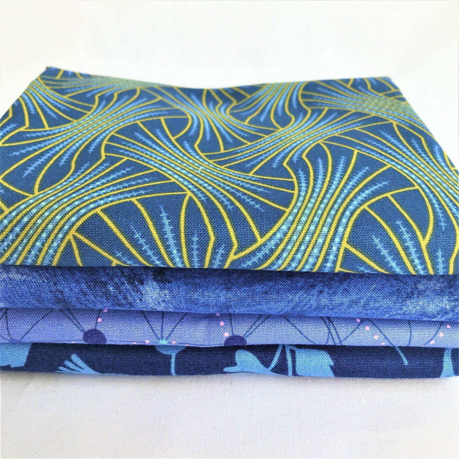 Boisterous Blue 4-fabric bundle