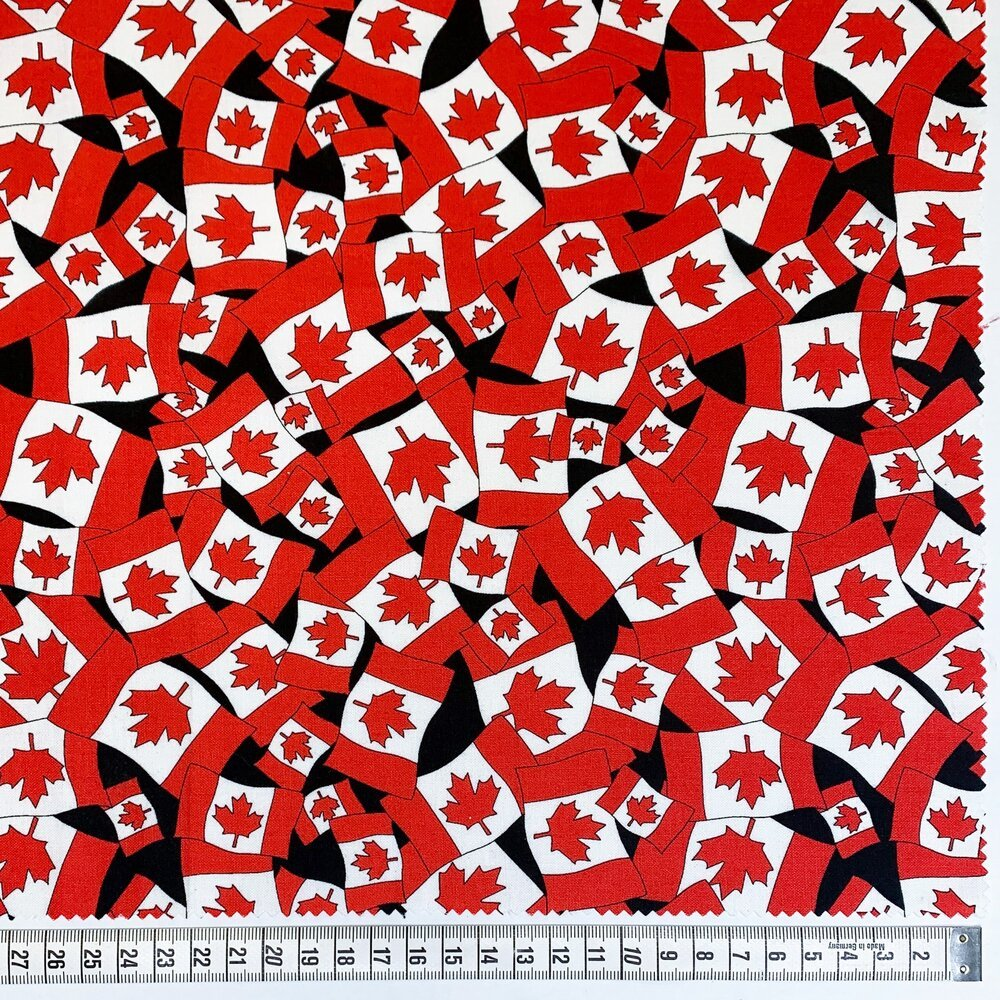 Canadian Flag Mini by Gordon Fabrics - Black/Red
