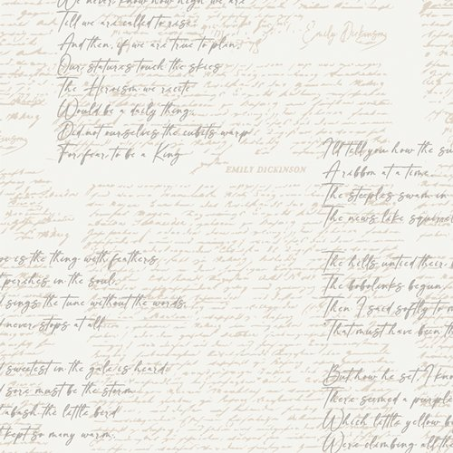Soften the Volume Capsule by Art Gallery Fabrics - Poetic Manuscripts