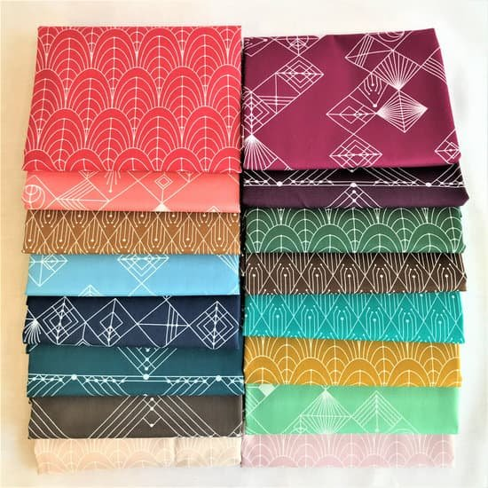 Century Prints Deco by Giucy Giuce for Andover Fabrics - 20 Fat Quarter  or 1/2 yard Bundle