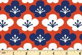 Kyoto by Stuart HIllard for Craft Cotton Co. - Cherry Blossom - Orange