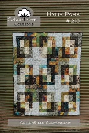 Hyde Park #210 Quilt Kit - Finished Size 60 x 72 Includes Fabric From Abandoned by Tim Holtz