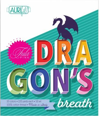 Dragon's Breath Aurifil Thread Pack by Tula Pink