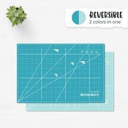 18 x 24 - Quetzal Blue, Self-Heaing, Reversible Ecopeco Cutting Mat