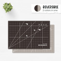 Ecopeco Reversible, Self-healing Cutting Mat - 24 x 36 - Mocha Brown