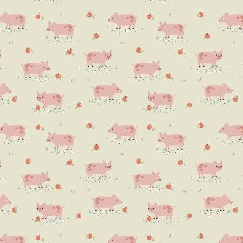Farm Days by Kate Jones for Dashwood Studio - Drove of Pigs in Cream
