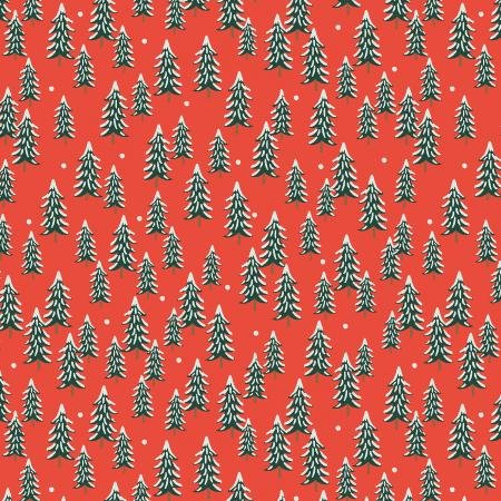 Holiday Classics by Rifle Paper Co.  Fir Trees - Red