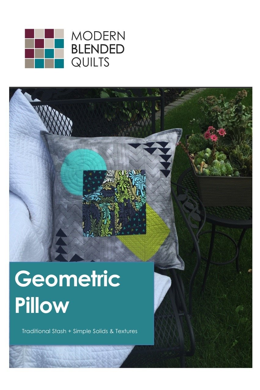 Geometric Pillow by Modern Blended Quilts