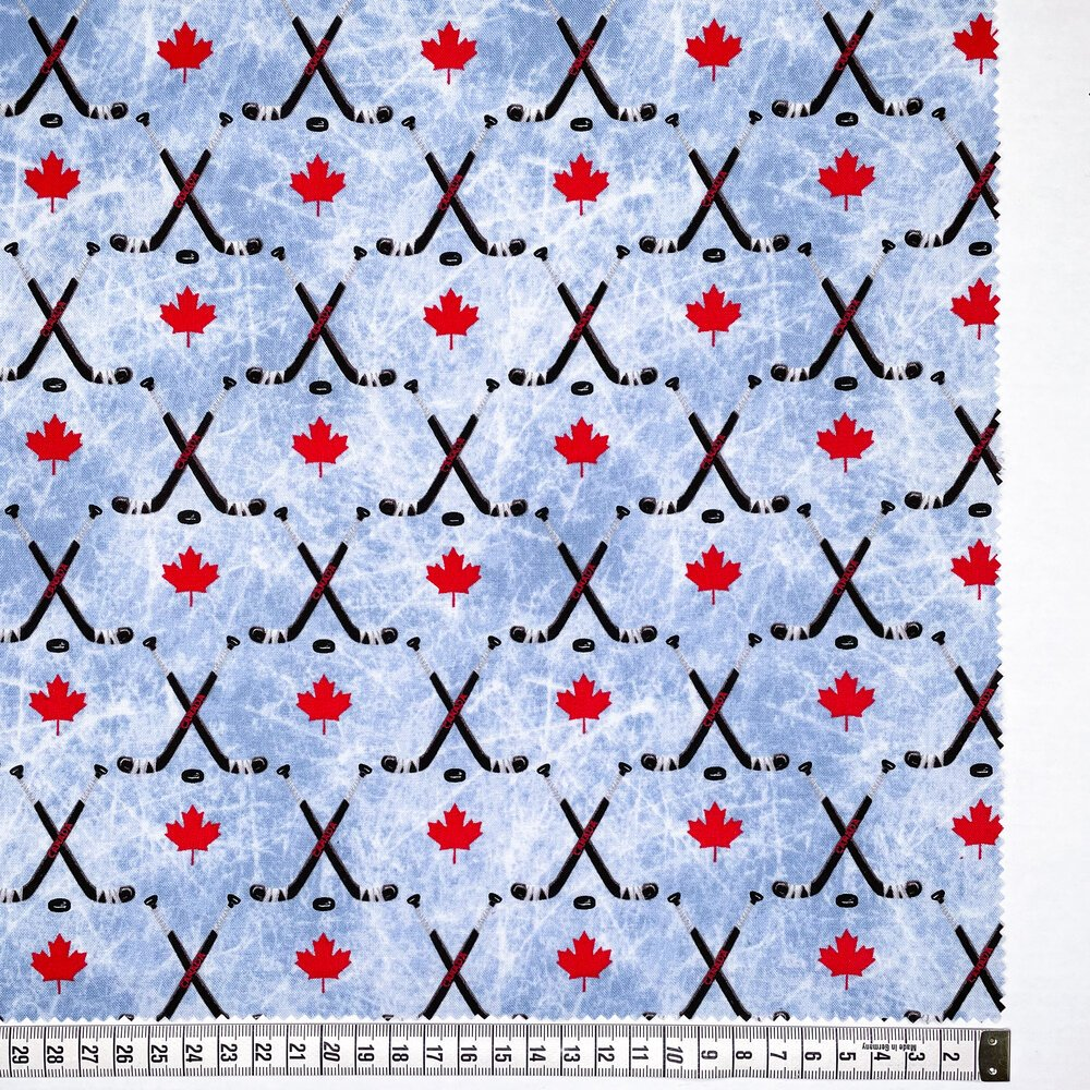 Hockey Sticks by Gordon Fabrics - Blue Multi