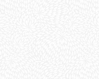 Basically Black & White by Patrick Lose Studios or Northcott Fabrics - Mums - White
