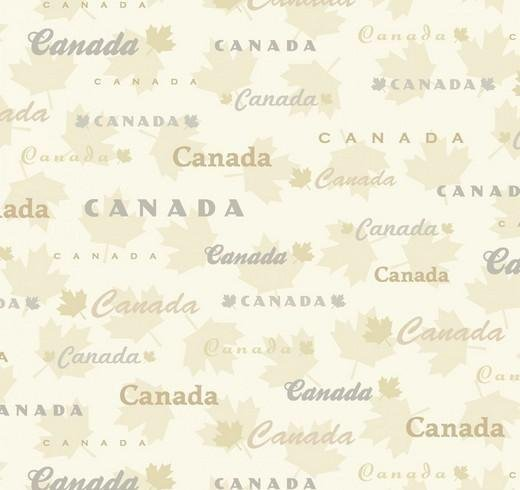 Discover Canada by Robert Kaufman - Flannel - Natural