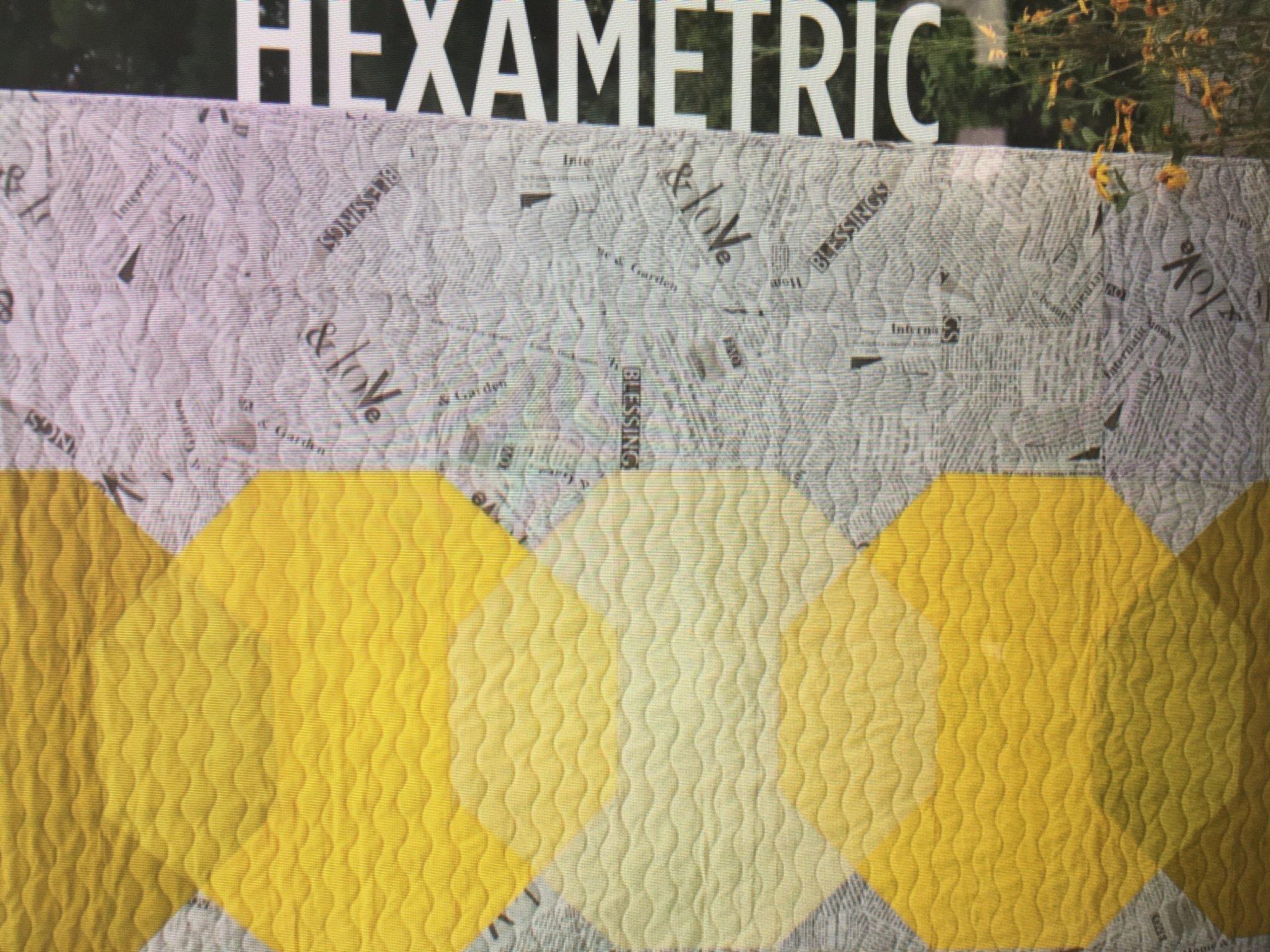 Hexametric Quilt Pattern - Studio 26 by Lethargic Lass - PDF Download