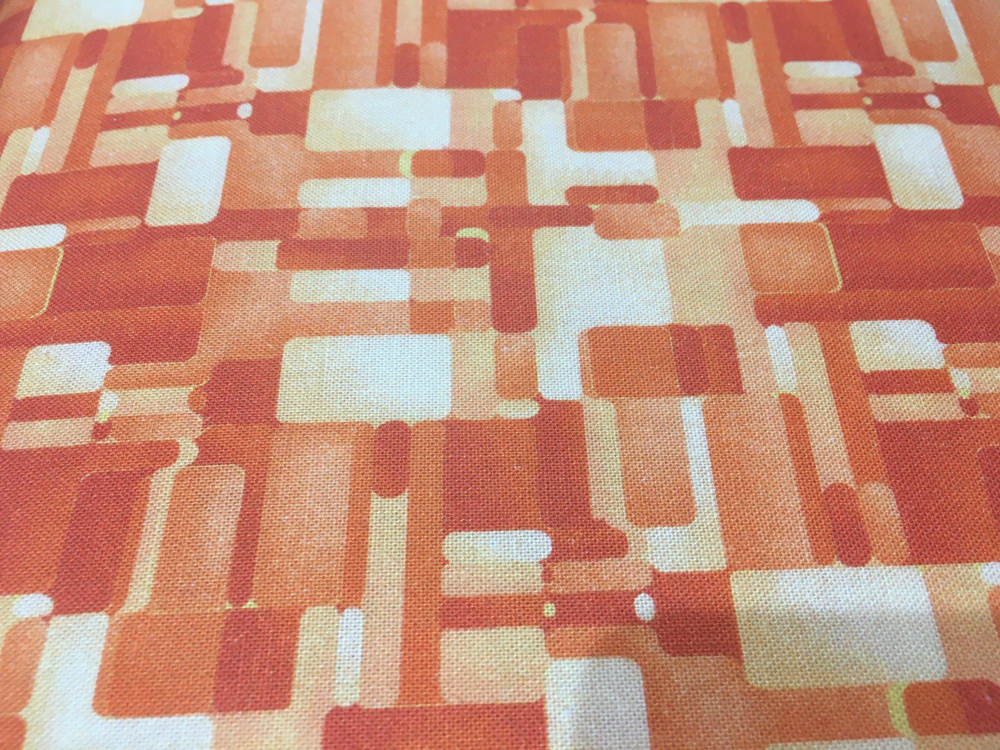 Geometry Digital Print--Orange - 3 Yard Mini Bolt