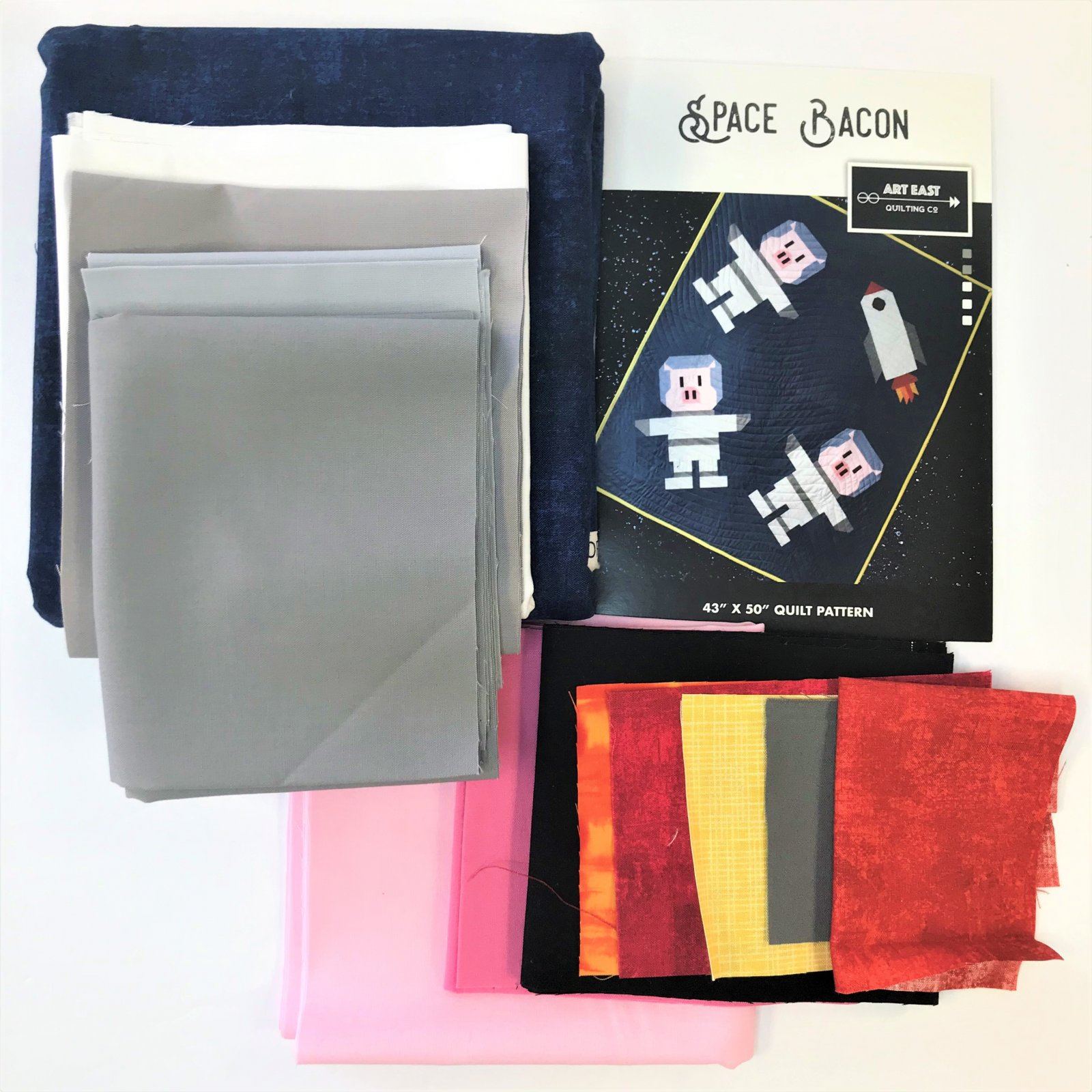 Space Bacon Pattern and Quilt Kit (Art East Quilting Co) - 43 x 50