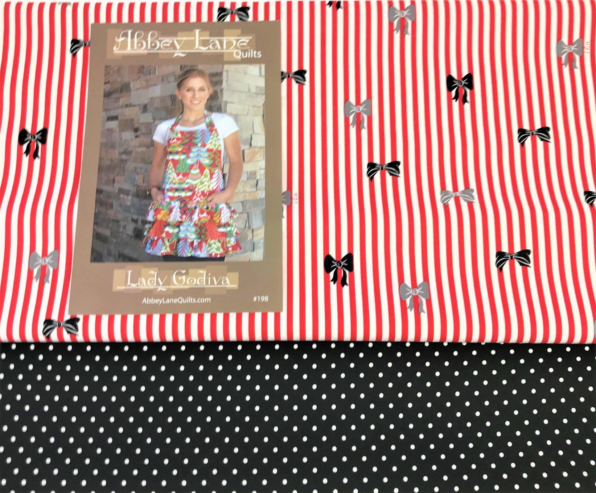 Lady Godiva Apron Kit- Stripes & Polka dots