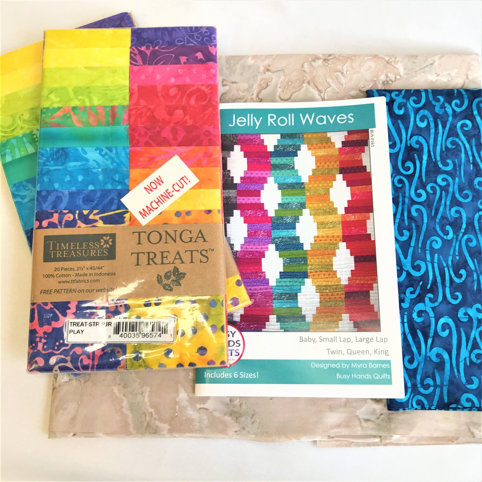 Jelly Roll Waves Quilt Kit