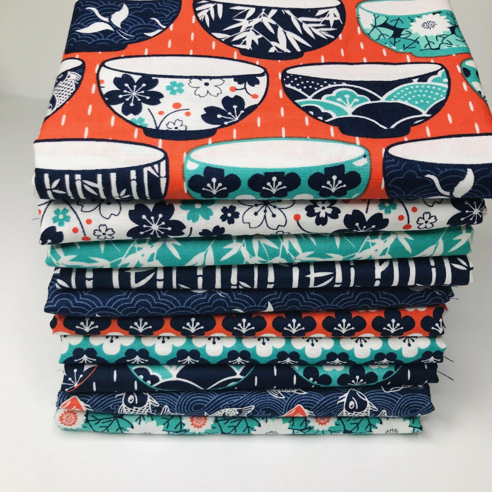 Kyoto by Stuart HIllard for Craft Cotton Co. - 10 Fat Quarters Bundle