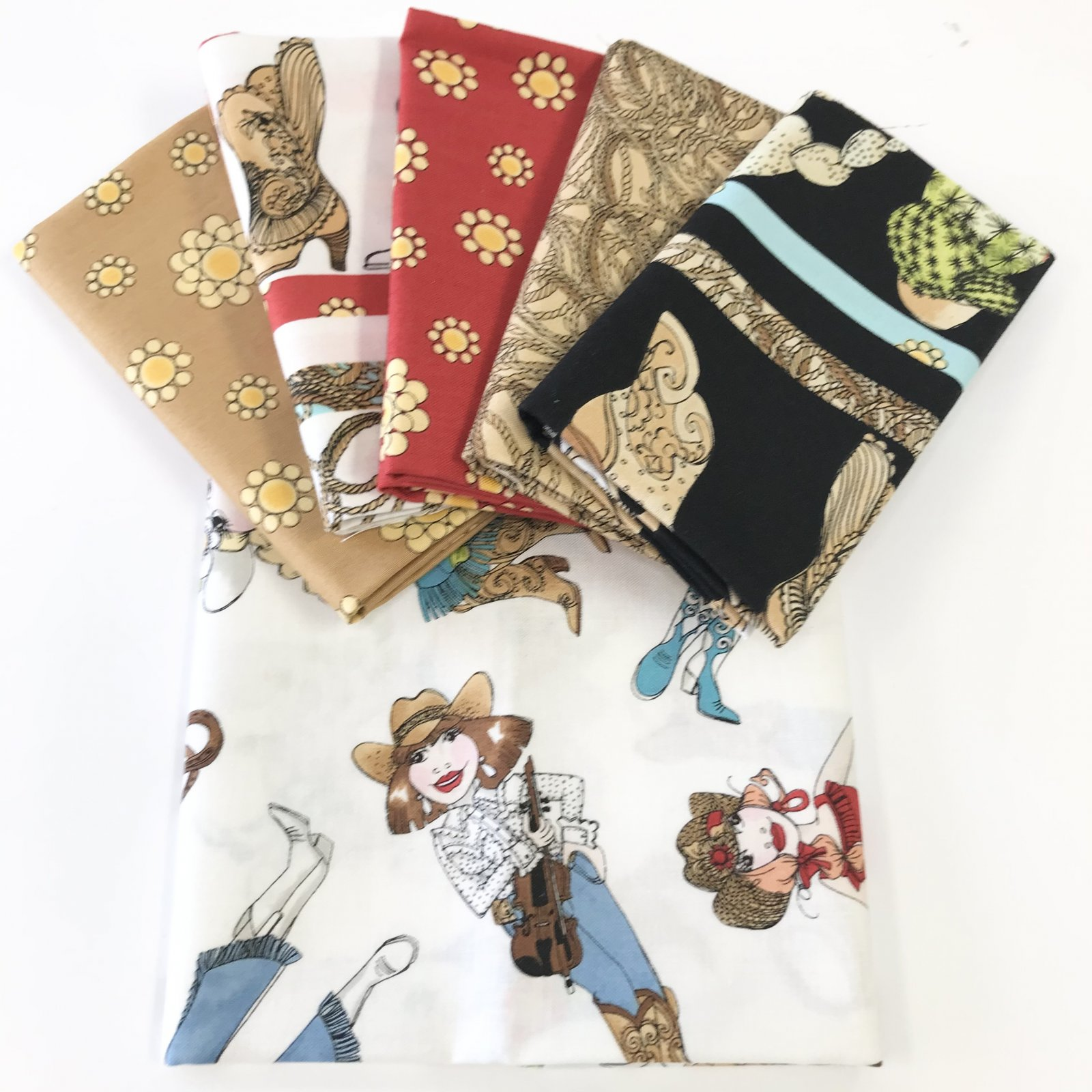 Whoa Girl! by Lewis & Irene - 6 Fat Quarter Bundle