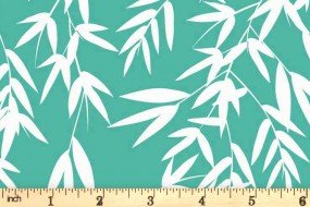 Kyoto by Stuart HIllard for Craft Cotton Co. - Bamboo Leaves - Jade