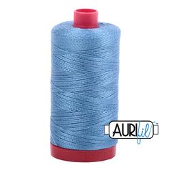 Aurifil Cotton  Mako 12 wt Thread 356 yards - Wedgewood  #4140