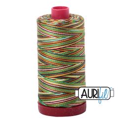 Aurifil Cotton Mako 12wt Thread 356 yards - Leaves #4650