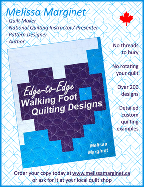 Edge-to-Edge Walking Foot Quilting Designs  by Melissa Marginet