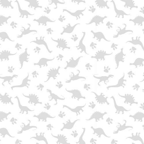Morning Mist IV - White on White Collection Dinosaurs
