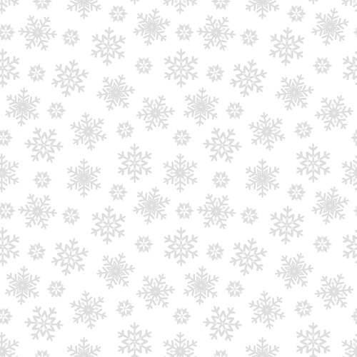 Morning Mist IV - White on White Collection Snowflakes