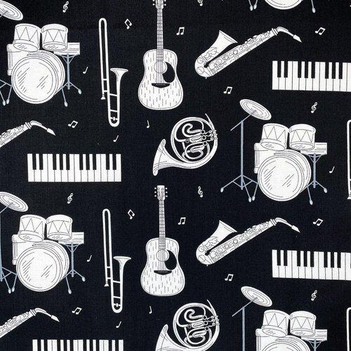Music by Gordon Fabrics - Instruments on Black