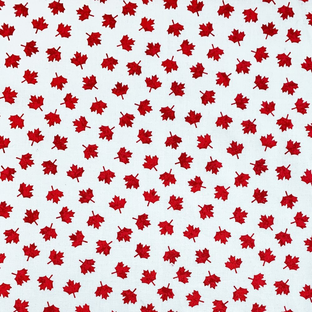 Oh Canada by Gordon Fabrics - White/Red