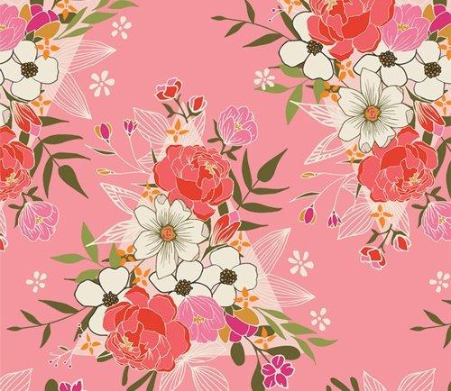 Open Heart by Maureen Cracknell for Art Gallery Fabrics (AGF) - Flowering Love