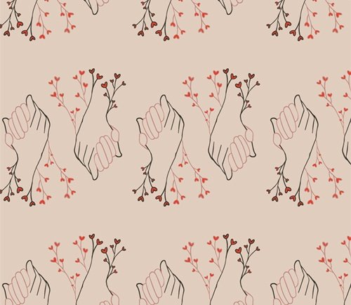 Open Heart by Maureen Cracknell for Art Gallery Fabrics (AGF) - Better Together