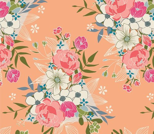 Open Heart by Maureen Cracknell for Art Gallery Fabrics (AGF) - Flowering Hope