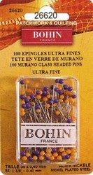 Bohin 26620 Murano Headed Glass Pins Ultra Fine 1.57/ 40mm 100pcs.